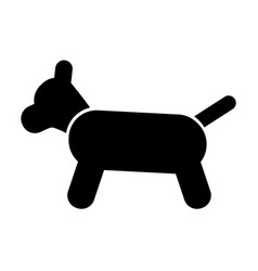 icon of the dog vector image