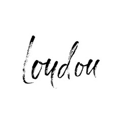 london city typography lettering design hand vector image
