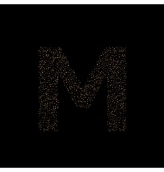 Magic M letter vector image