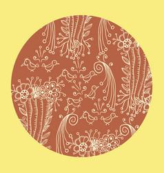 mandala ornament in circle round shape decorative vector image