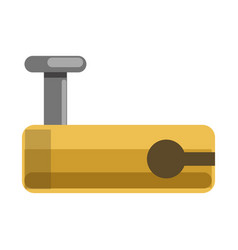 metal lock with yellow corpus and hole for latch vector image