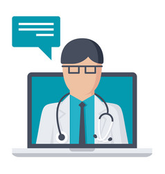 Online medical consultation vector