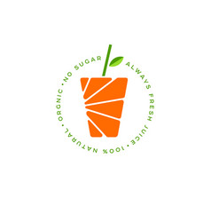 Orange juice logo fresh vector