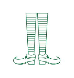 Pair of elven legs vector