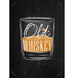 poster old whiskey color vector image