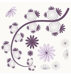 purple tree vector image