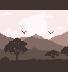 realistic mountain landscape design vector image