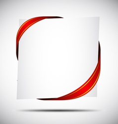 Red Corner Ribbon vector image