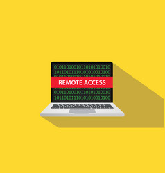 Remote access concept with laptop computer vector