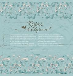 Retro flourish background vector