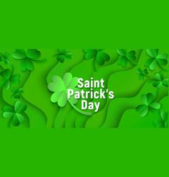 saint patricks day holiday green shamrock vector image