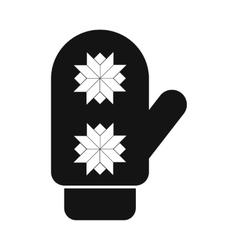 Santa mitten simple icon vector image