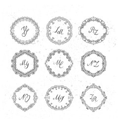 set beautiful wreath vector image