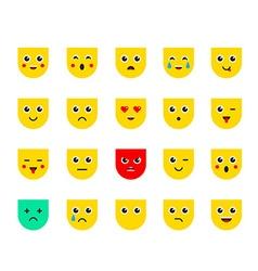 Set of Emoticons or Emoji vector image