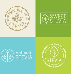 Set of labels badges and design elements for food vector