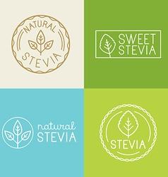 set of labels badges and design elements for food vector image