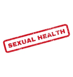 Sexual Health Rubber Stamp vector image