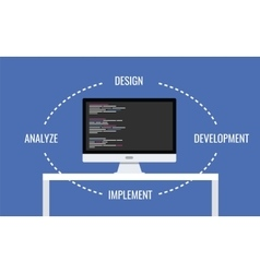 software development vector image