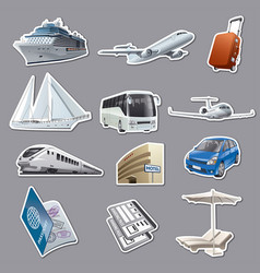 stickers for traveling and resort vector image