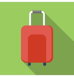 Suitcase colored flat icon vector image
