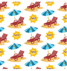 summer time season sea beach shore background vector image