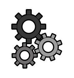 three gear sign cartoon vector image