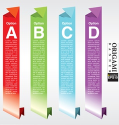 Vertical origami banners EPS10 vector image