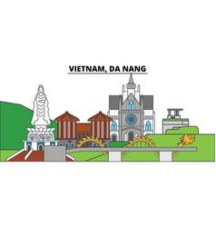 vietnam da nang city skyline architecture vector image