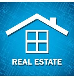 Blueprint house icon vector image