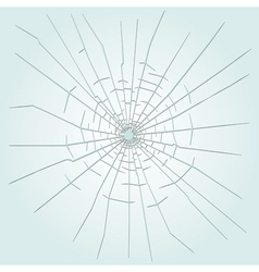 Bullet hole in glass vector image vector image