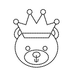 cute teddy bear wearing crown animal design vector image