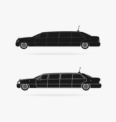 limousine car icon vector image vector image