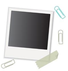 polaroid photo to your family photo album vector image