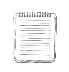 Sketch notebook vector