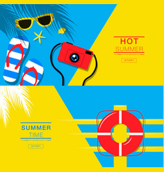 summer tropical vacation backgrounds design vector image vector image