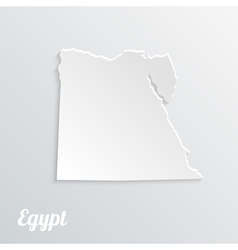 Abstract icon map of Egypt on a gray background vector image