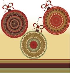 Christmas - greeting card vector image