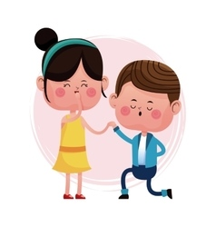 Couple love proposal happy vector
