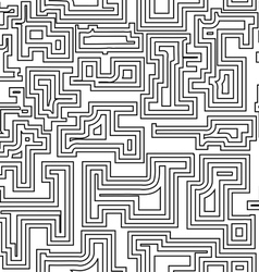Seamless pattern with broken lines vector image