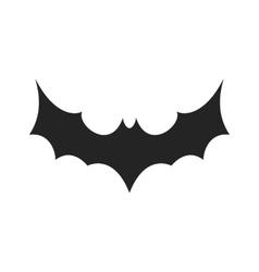 Simple black bat icon vector image vector image