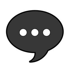 speech bubble solid icon vector image
