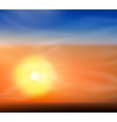 Sunrise or sunset vector image