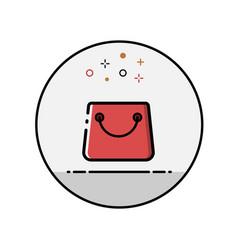 flat line bag icon vector image