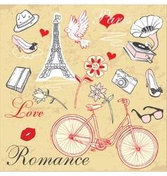 Paris Romance Set vector image vector image