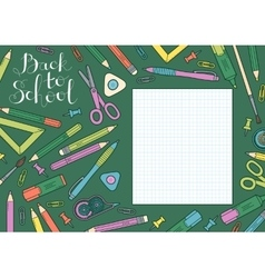 Back to school design template Frame of vector image vector image