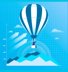 businessman flying on hot vector image