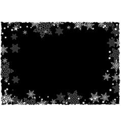 christmas snowflake border vector image vector image