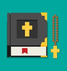 flat of bible vector image