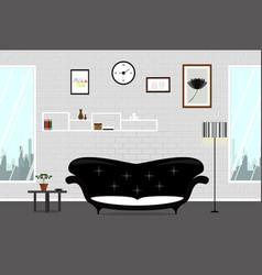 living room wall brick white vector image