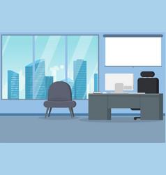 modern city office interior vector image